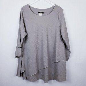 Moonlight Dove Grey Lagenlook Oversized Tunic - XL